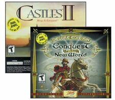 Conquest of the New World Deluxe & Castles II Siege & Conquest NEW 2 Game Bundle