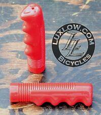 Red Bike GRIPS Vintage Cruiser Stingray Muscle Bicycle Lowrider Schwinn Beach