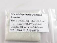 High Grade Synthetic Diamond Powder Lapidary 100 carats=20g 2000 Mesh 5.0~3.5 μm