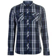 Mens Firetrap Blackseal Long Sleeve Checked Shirt Casual New