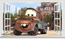 60X100cm Disney Pixar Cars Mater 3D Window Wall Sticker Removable Kids Decal Art
