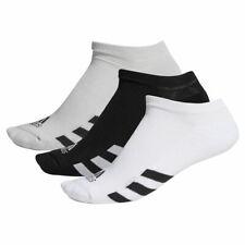 adidas Golf Mens 2020 3-Pack No Show Ribbed Padded Soft Socks