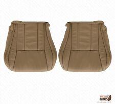 Driver & Passenger Bottoms Tan Leatherette Cover For 1996 - 2002 Toyota 4Runner