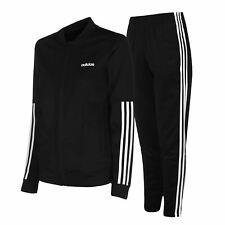 Adidas Espalda 2 Basics Set Chándal Mujer Negro/Blanco Mujer Chaqueta Pantalones