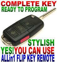 EURO FLIP KEY REMOTE FOR 04-06 GMC ENVOY XUV KEYLESS ENTRY CLICKER FOB 6898B 4BT