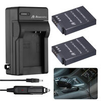 2pack EN-EL12 Battery & Charger for Nikon Coolpix S6000 S6100 S6200 S6300 S8000