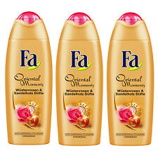 (9,08 €/ L) 3x 16.9oz Fa Oriental Moments Desert Rose & Sandalwood Cream Bath