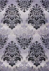 Milan Classic Soft Damask Style Door Mat Area Rug Carpet 4x6 5x7 6x9 8x10 9x12