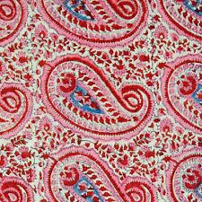 Indian Hand Block Paisley Printed Cotton Fabric Dress Sewing Material 10 Yard IA