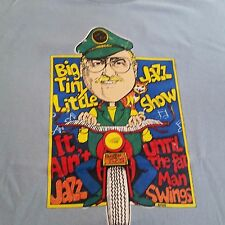 Big Tiny Little Jazz Show Tshirt, Light Blue, Hanes Size L