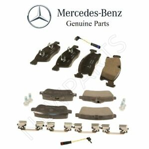 For Mercedes W166 ML X166 GL GLE GLS Set of Front & Rear Brake Pads Sensors OES