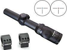 Visionking 1.25-5x26 Rifle scope Hunting 30 three-pin German1 Reticle 223 &Rings
