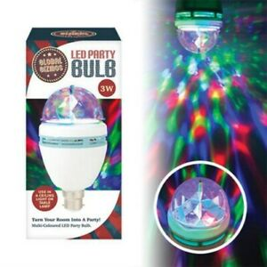 Gizmos 3 Watt LED Party Disco Bulb Rotating Multi colour Bayonet Cap Light bulb