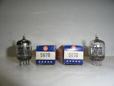 5670 VACUUM TUBE SET NOS TESTED (B10) LOT OF 2
