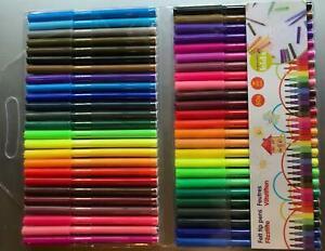 50 Fasermaler Filzstifte ### große Farbvielfalt ### bunt farbig Stifte Stift 2mm