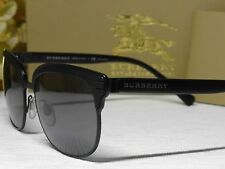 BURBERRY B 4232 Matte Black Square Clubmaster Frame  Sunglasses 56 18 145**ITALY
