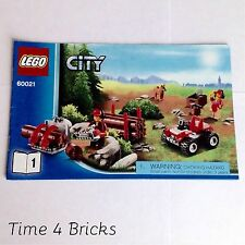2013 Lego City Cargo Heliplane 60021 Book 1 - Instructions Only - Used