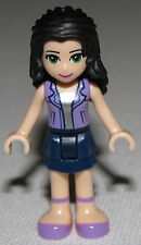 Lego New Friends Emma Female Girl Figure with Lavender Vest