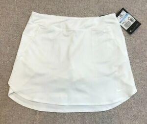 NIKE girls GOLF SKIRT size M age 10-12 WHITE BNWT AJ5287-100