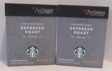 STARBUCKS ESPRESSO CHRISTMAS VINTAGE BLEND 2017 COFFEE VERISMO PODS 2 BOXES