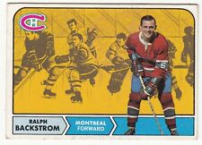 [61979] 1968-69 TOPPS HOCKEY RALPH BACKSTROM CARD #60 MONTREAL CANADIANS
