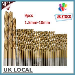 99pcs 1.5mm-10mm HSS Titanium Coated Drill Bits Set Hex Shank for Metal Wood UK