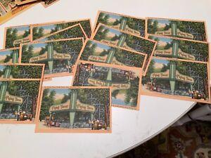 Lot 15 Vintage Postcards FLYING TURNS EUCLID BEACH PARK CLEVELAND OHIO