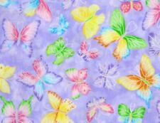 Fat Quarter Glitter Butterflies On Lavender Butterfly Quilting Fabric Traditions