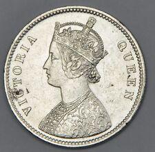 1862 British India Silver 1 Rupee Coin - Victoria Queen - XF