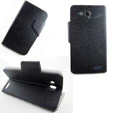 Custodia FLIP LINGUETTA cover STAND Nero per Alcatel One Touch Idol S OT-6034