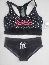 Victorias Secret Pink New York Yankees Yoga Bra/Panty Set Medium Small M/S HOT