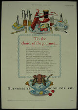 Old Original Magazine Advert Guinness The Choice Of The Gourmet 1954