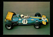 Car Auto Racing chrome postcard Formula 1 Grand Prix Ford BT 33 Vintage