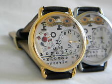 Optometrist Watch with eye chart old sign and glasses or Optician Watch
