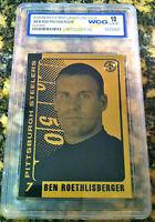 BEN ROETHLISBERGER PITTSBURGH STEELERS 2004 GEM-MINT 10 23KT GOLD ROOKIE CARD!