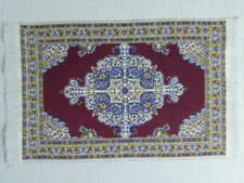 """Dolls House Miniature 1:12 Scale Woven Turkish Rug 9 5/8"""" x 5 3/4"""" (L)"""