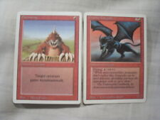 MtG - Magic the Gathering - Revised 3rd Edition - Granite Gargoyle + Burrowing