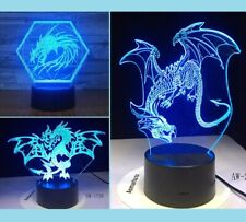 3D Dragon Night Light 7 Color Change LED Desk Lamp Touch Home Decor Gift