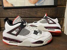 Nike Air Jordan 4 Retro White Black Flight Nostalgia 308497 116 Mens Size 10.5