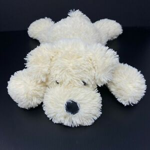 """Best Made Toy Puppy Dog Plush Cream White Shaggy Floppy Terrier Laying Lovey 17"""""""