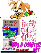 Personalised Photo Ceramic Mugs & Coaster Set  - MOTHER'S DAY Gift-Boxed