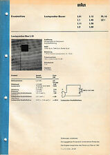 Service Manual-Istruzioni per Marrone L 01/l 2/l 11/l 12/l 40/l 50/l 60/rl 10/le 1