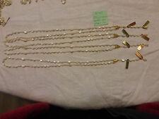 48/ lot  4 collier chapelet inachevé perle en nacre ancienne monté sur plaqué or