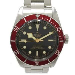 Authentic TUDOR Heritage Black Bay Watch Men's 79230R Automatic Black SS Used