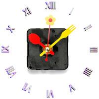 Quartz Clock Movement Mechanism Repair Part Flower Spoon Fork Hands Home Part