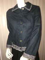 Additions by Chicos Blue Denim Jean Jacket Women's Size 0 (4/6 S)