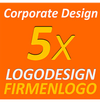 5x Logovarianten Layout Vektor FIles Firmengründung Logo Design Corporate Design