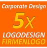 5x Logovorschläge Vektorgrafik Firmengründung Logo Design Corporate Design
