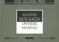 1989 Mazda MX-6/626 Owners Manual User Guide Reference Operator Book Fuses