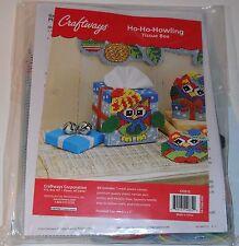 "Craftways Ho-Ho-Howling Owl Tissue Box Plastic Canvas Kit Owl 5"" x 5 1/2"" x 5"""